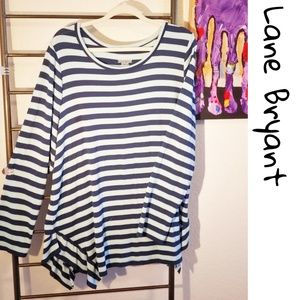 Lane Bryant striped super soft tunic with Side FUN